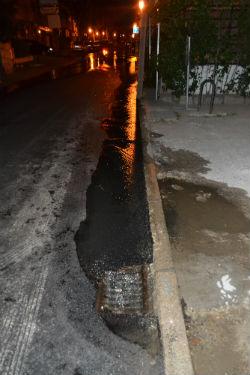 Fuga de agua en la calle Hermanos Velasco
