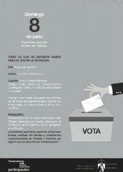 Debate con motivo de la consulta popular para la unificación de fiestas en Torrelodones