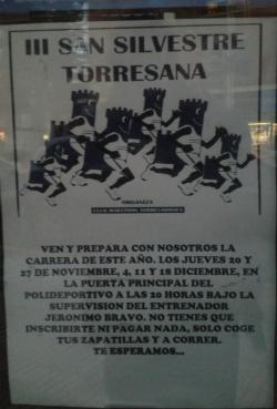 Entrenando para la San Silvestre torresana