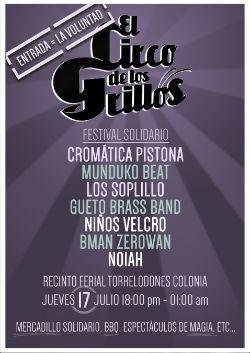 Cuarta edición del festival solidario El Circo de los grillos