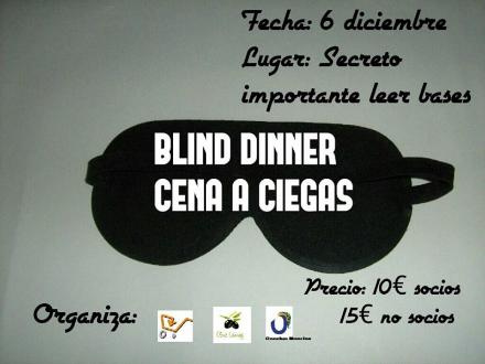 Cena a ciegas con la Peña El Carrito