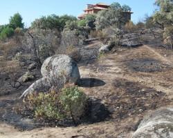 Incendio en la urbanización Las Marías