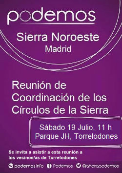 Asamblea Comarcal de Podemos en Torrelodones