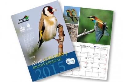 Las aves de Hoyo en el calendario municipal 2015
