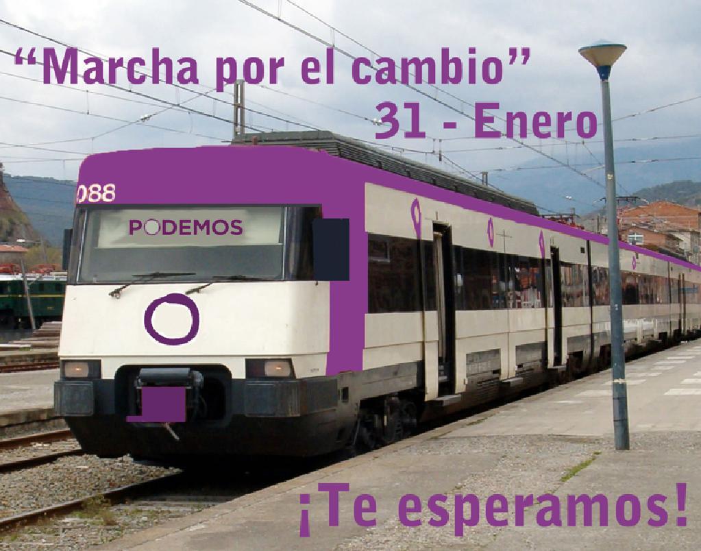 Mesas informativas en Torrelodones para la Marcha 31-E de PODEMOS