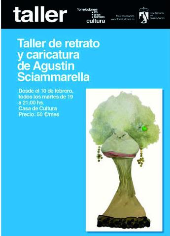 Agustín Sciammarella imparte un taller de retrato y caricatura en Torrelodones