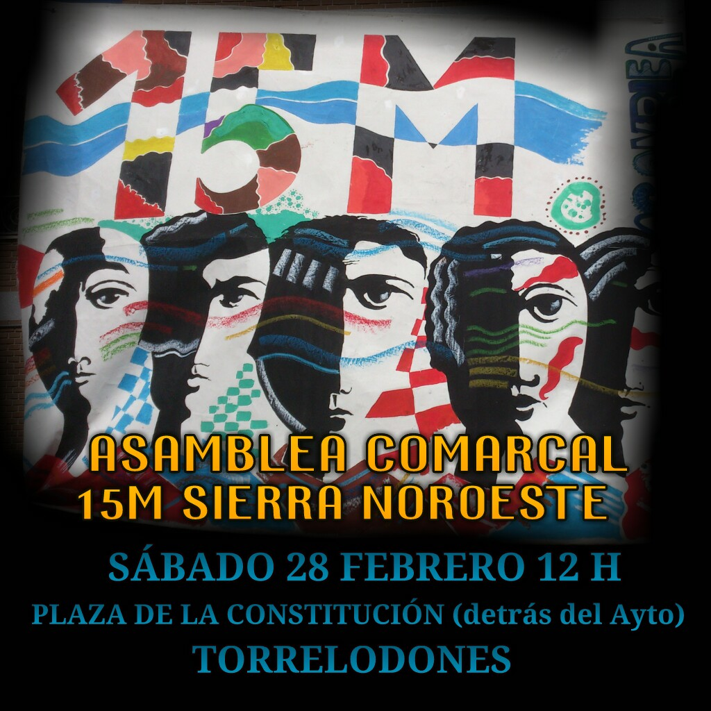 La asamblea comarcal del 15M vuelve a reunirse en Torrelodones