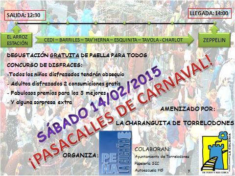 La peña La Cucaña celebra su pasacalles de Carnaval