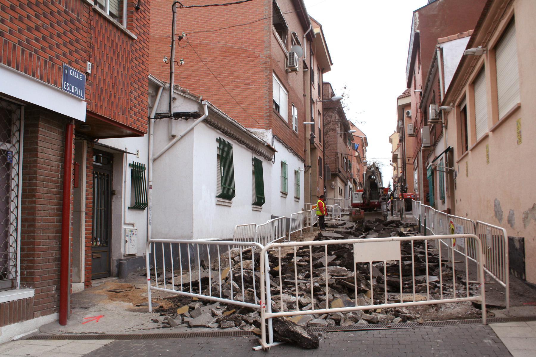 El Ayuntamiento de Las Rozas comienza las obras de remodelación de la calle Escorial