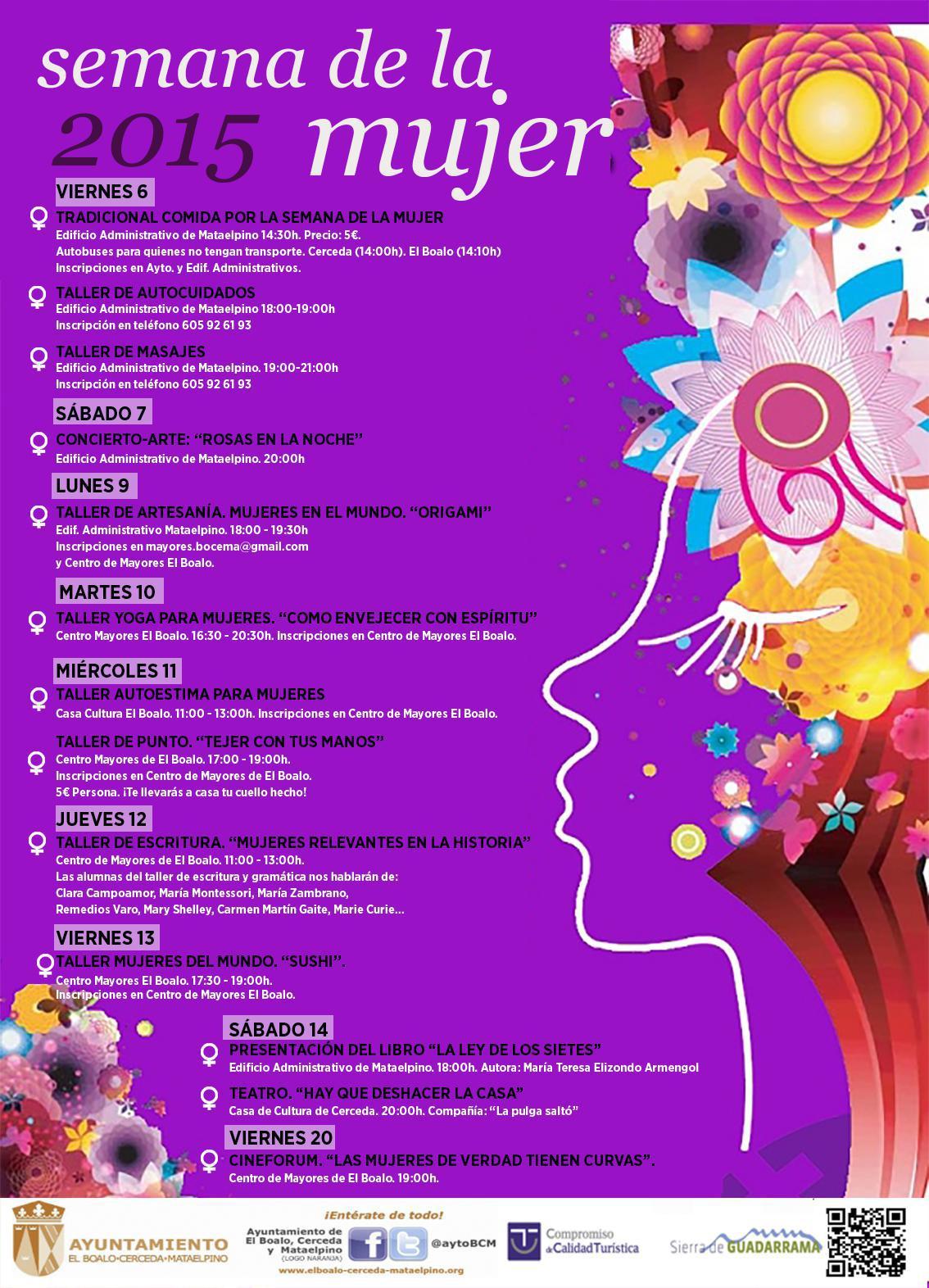 Semana de la mujer en El Boalo, Cerceda y Mataelpino.