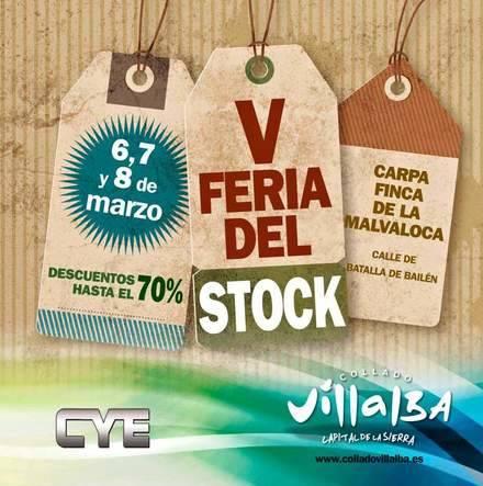Quinta edición de la Feria del Stock de Collado Villalba este fin de semana