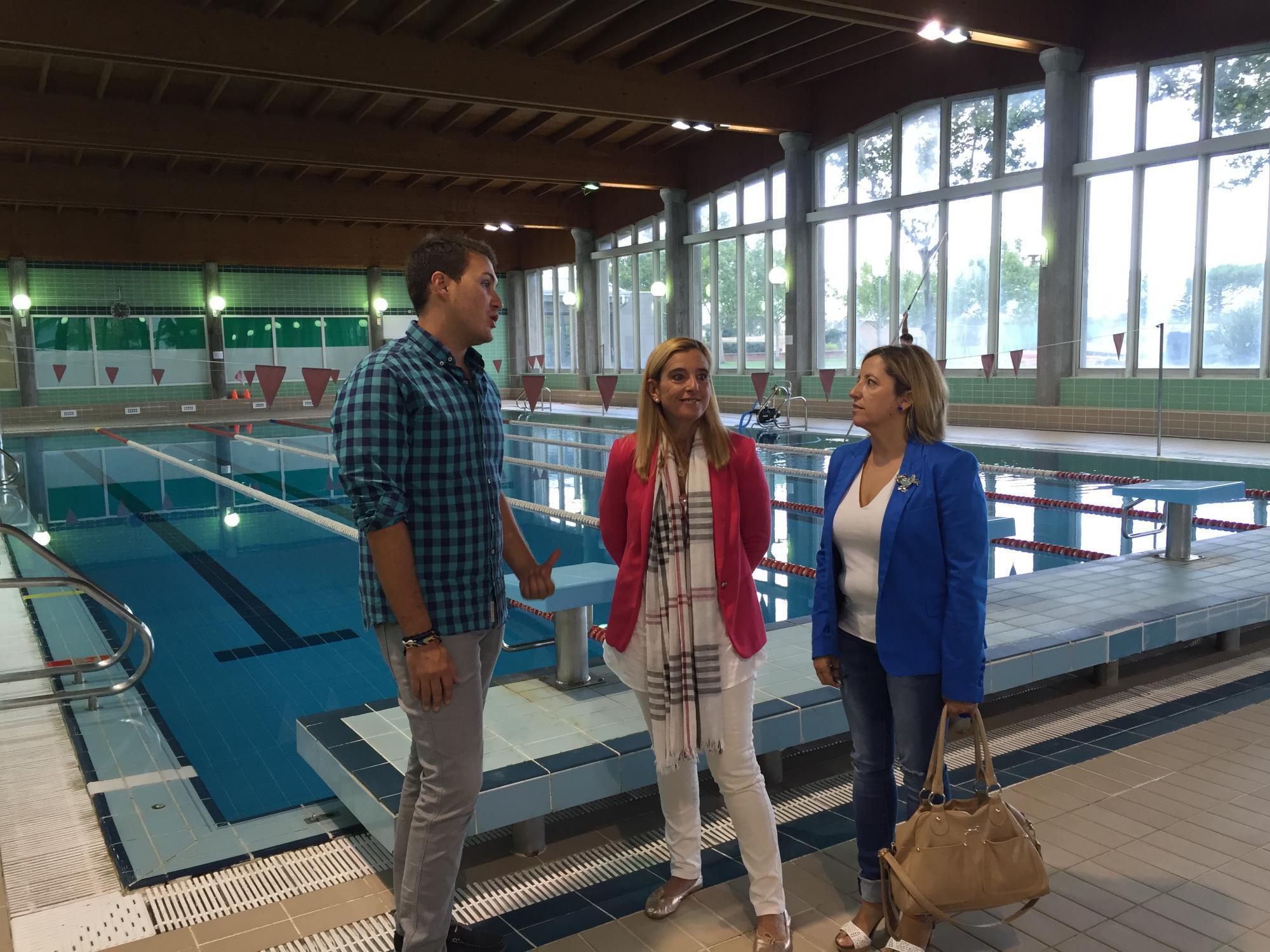La piscina cubierta de Collado Villalba, a punto para la apertura de temporada el lunes