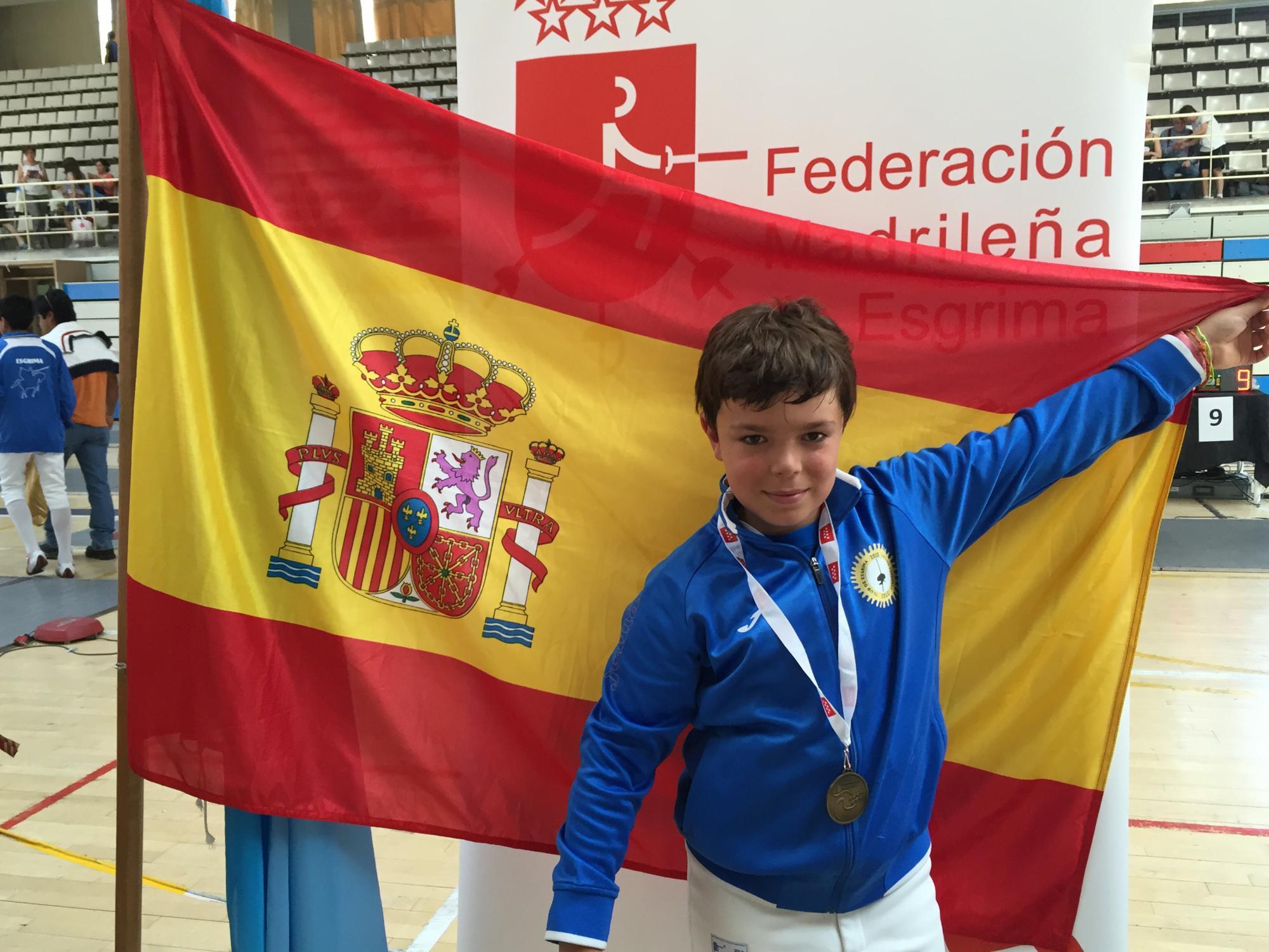 El esgrimista galapagueño, Álvaro Campos, se alza con el título de campeón de España en categoria M12