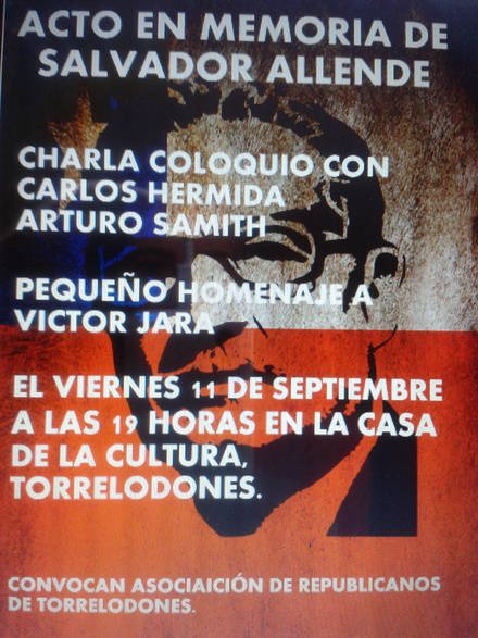 Homenaje a Salvador Allende por los Republicanos de Torrelodones
