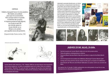 El Boalo homenajea a su ilustre vecina, Carmen Martín Gaite