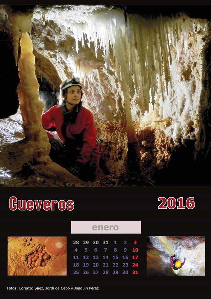 Calendario imprimible del colectivo Cueveros