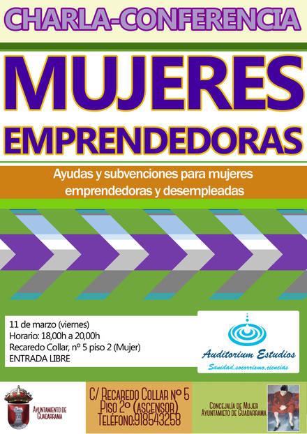 """Conferencia """"Mujeres emprendedoras' este viernes en Guadarrama"""