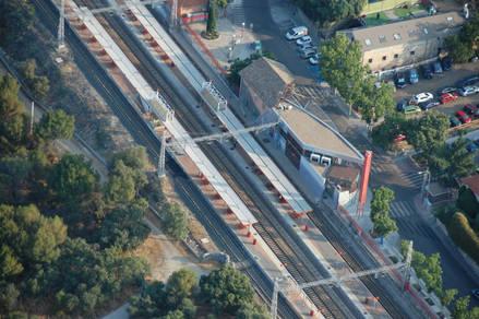 Vista aérea de la Estación de RENFE en La Colonia