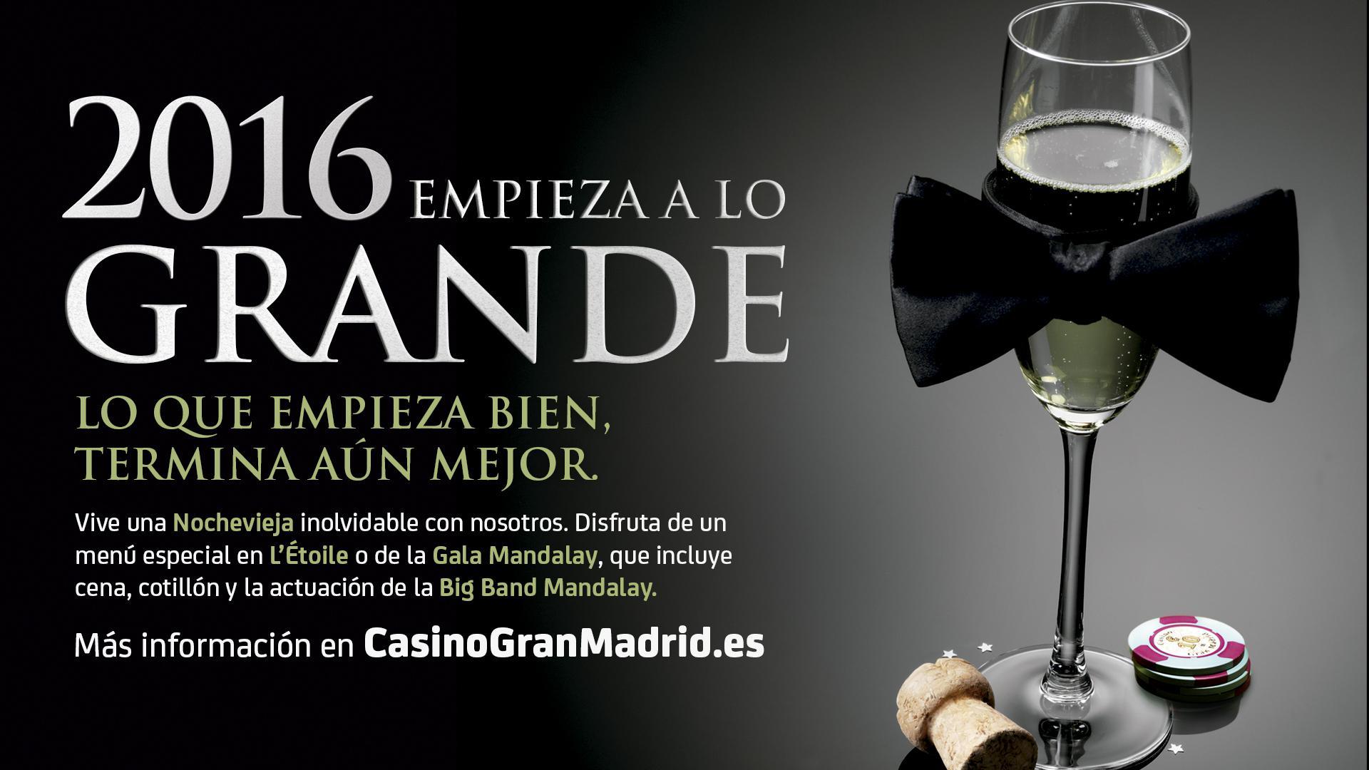 Despide en año en el Casino Gran Madrid de Torrelodones.