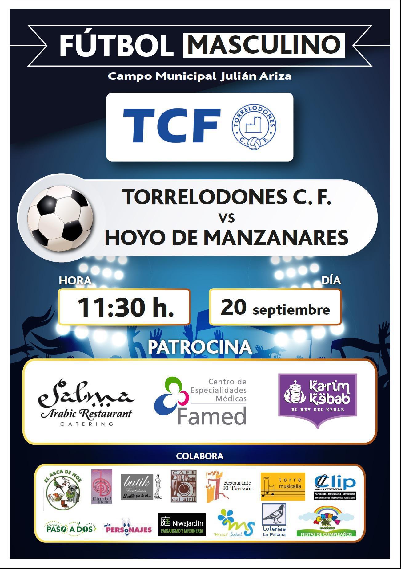 Este domingo, Torrelodones CF vs. Hoyo de Manzanares