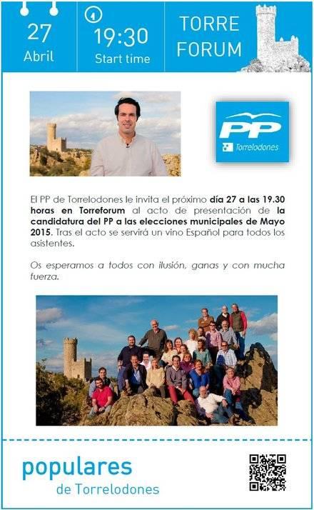 Acto de presentación de la candidatura del PP de Torrelodones
