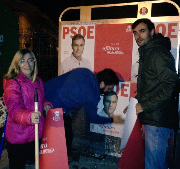 Arranca la campaña para la elecciones generales con la pegada de carteles