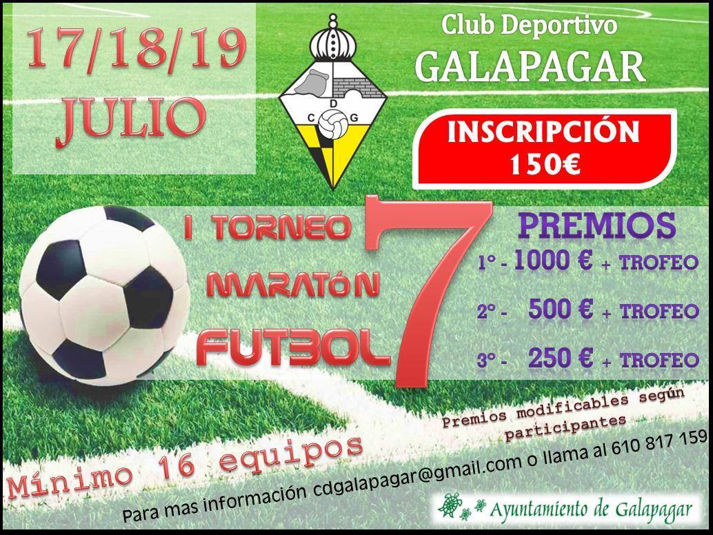 Abierto el plazo de inscripción para el I Torneo maratón de Fútbol 7 de Galapagar