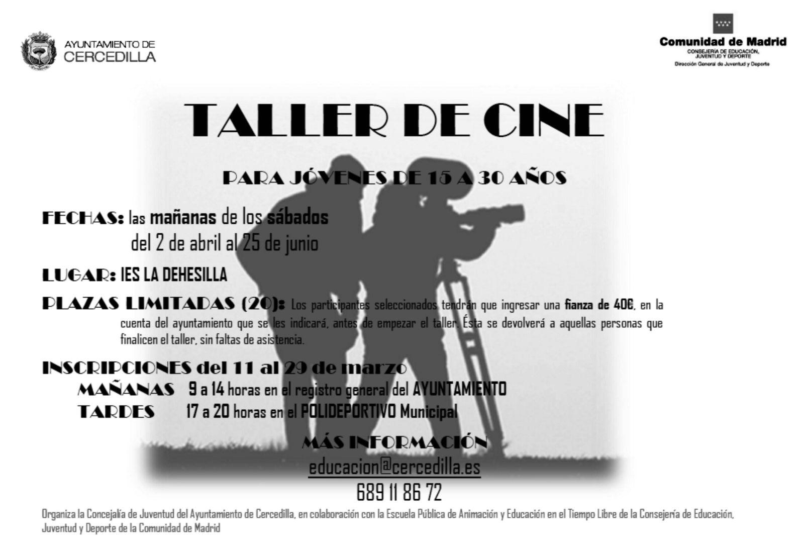 Taller de Cine para jóvenes en Cercedilla