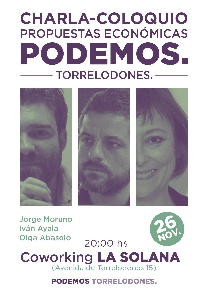 Propuestas económicas de PODEMOS en acto electoral en Torrelodones