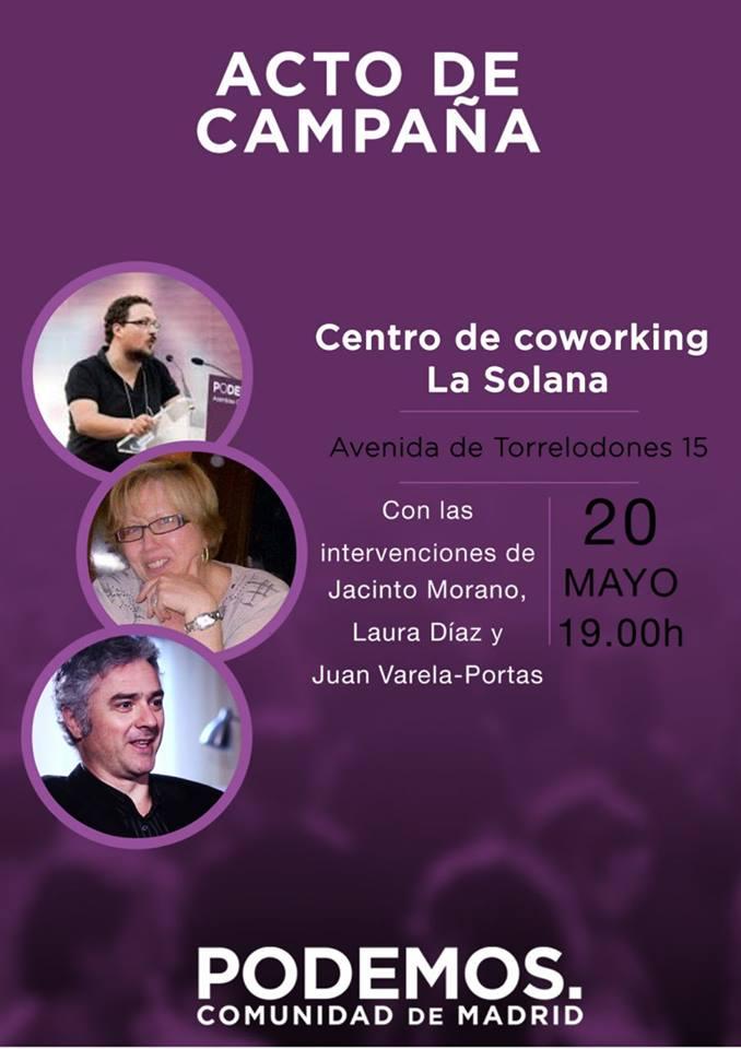 Acto de campaña de PODEMOS Comunidad de Madrid en Torrelodones.