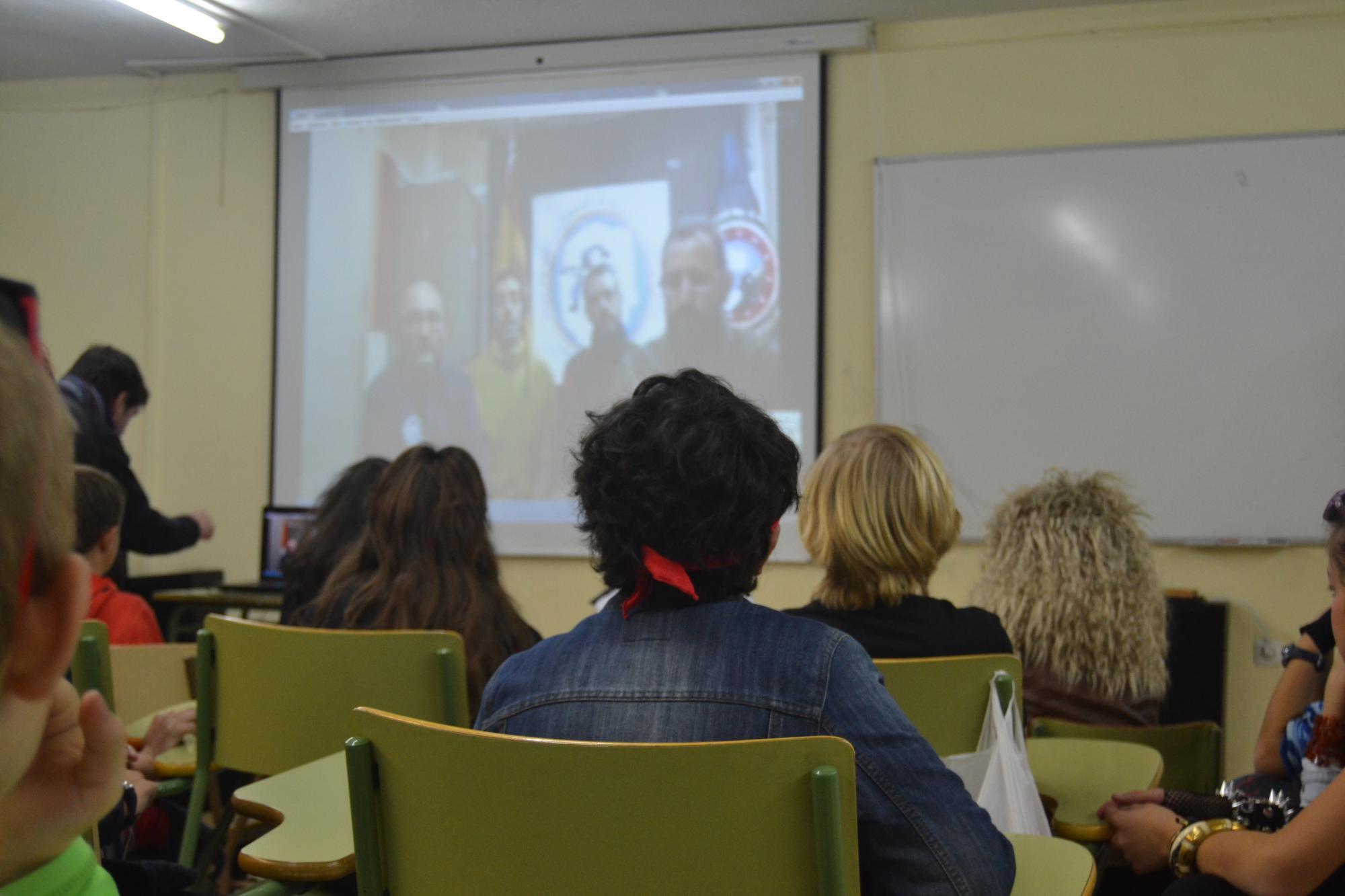 """El colegio de Los Ángeles de Torrelodones """"al habla"""" con la Antártida"""