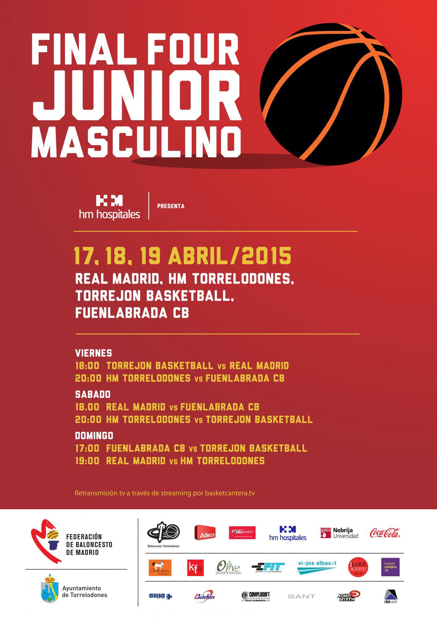 Final four masculino junior, este fin de semana en Torrelodones