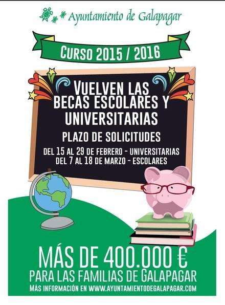 Becas de hasta 150€ para estudiantes universitarios o de grado superior de Galapagar