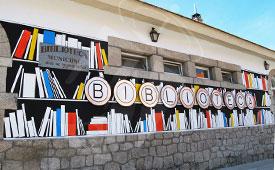 La biblioteca de Torrelodones pueblo, estrena fachada