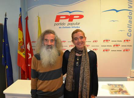 Mariola Vargas, candidata a la Alcaldía, con Antonio Ledesma, el Tragamillas