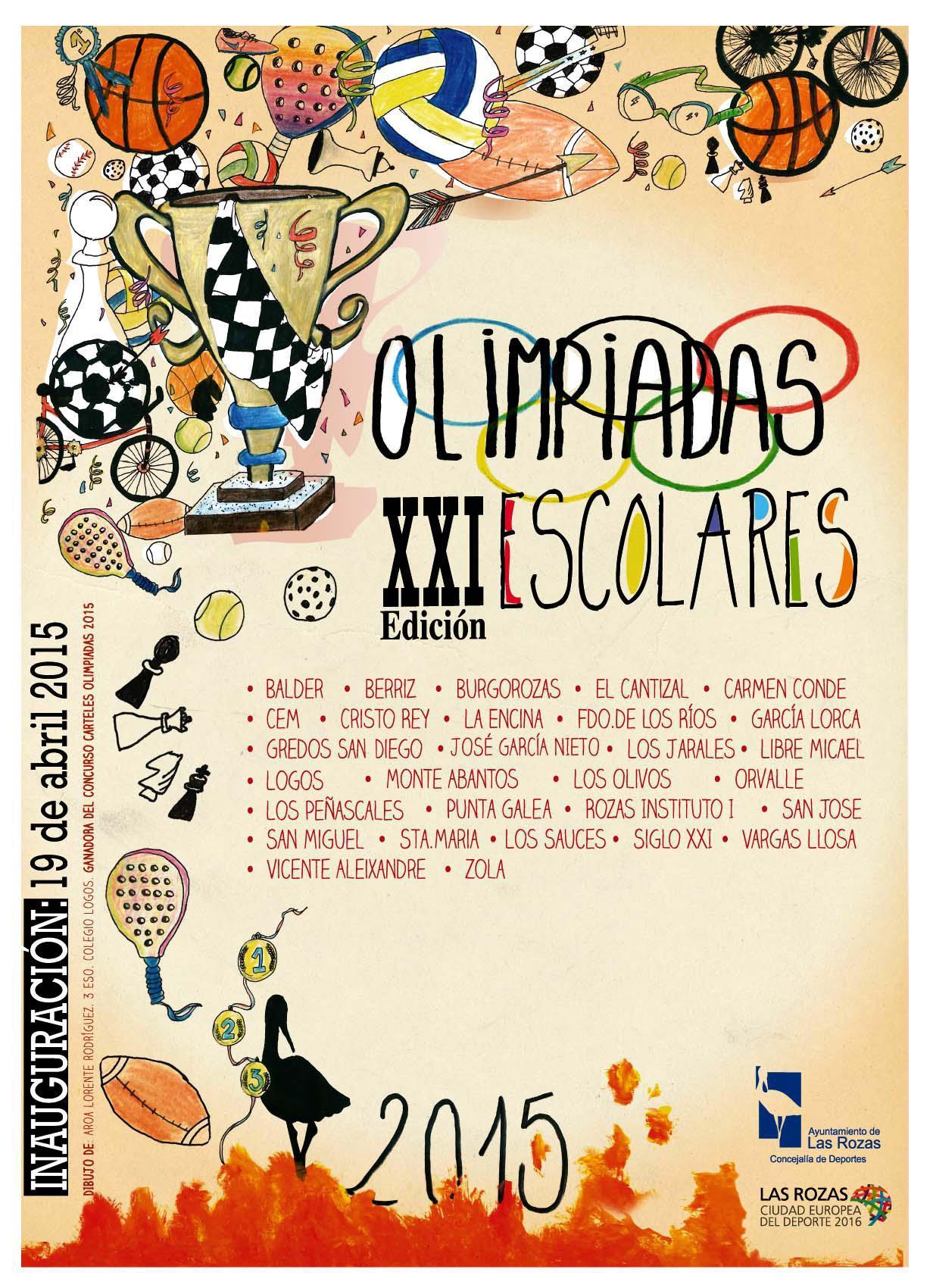 Nueva edición de las Olimpiadas Escolares en Las Rozas