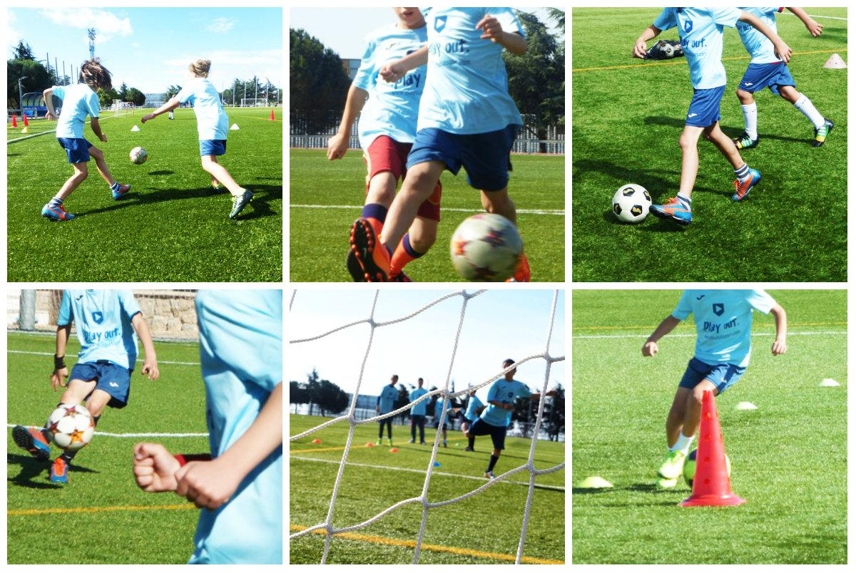 Escuela de tecnificación de fútbol en Torrelodones.