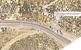 Corte parcial de tráfico en la vía de servicio dirección Torrelodones