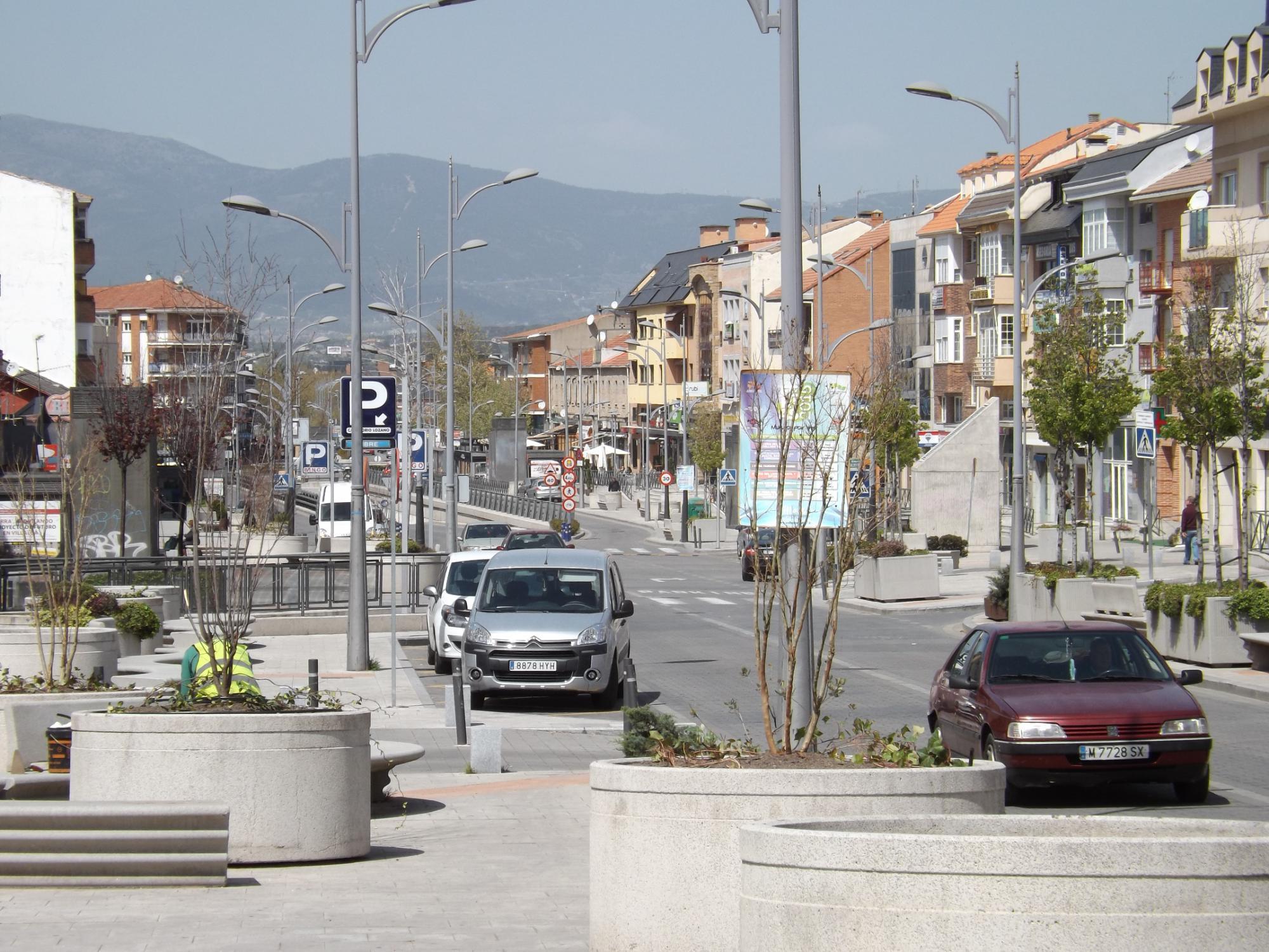Las calles Honorio Lozano y Batalla de Bailén de Collado Villalba, cortadas al tráfico desde el martes 14