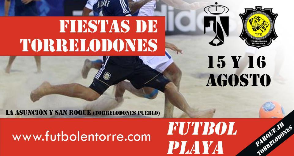 Las fiestas de Torrelodones volverán a traer el Torneo de Fútbol Playa