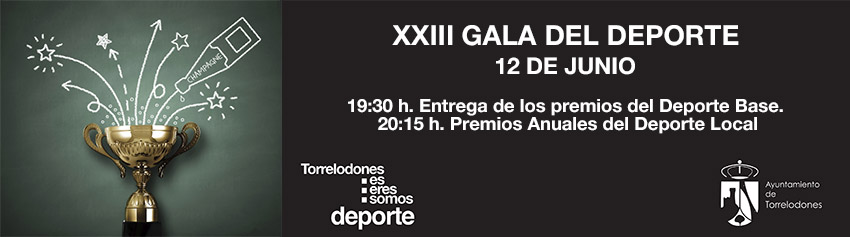 El 12 de junio Torrelodones celebra la XXIII Gala del Deporte