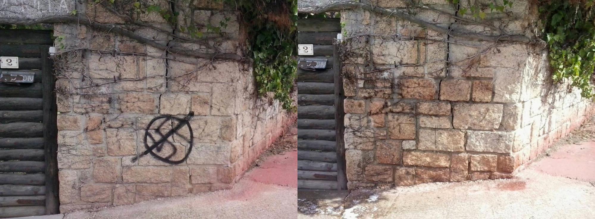 Galapagar invierte 15.000 euros en una nueva campaña de limpieza de grafittis