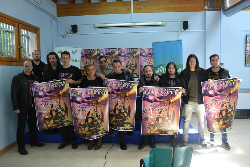 Saratoga y Sacramento, bandas invitadas en el Granitorock 2015