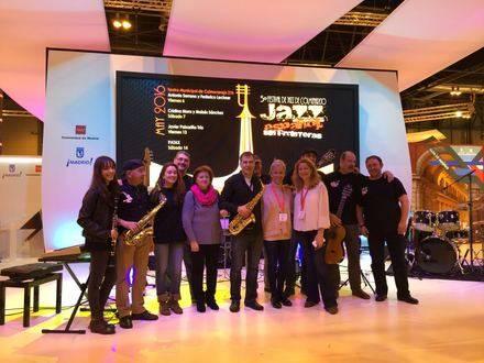 Colmenarejo presenta en Fitur el cartel del V Festival de Jazz.