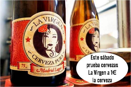 En Abarrotes Las Matas, cervezas La Virgen a 1€