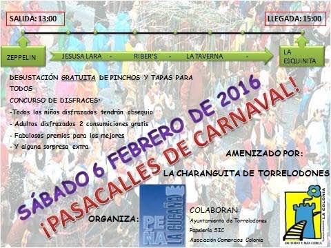 La peña La Cucaña celebra su pasacalles de Carnaval en la colonia de Torrelodones