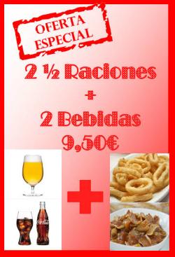 Ofertas de fin de semana en el bar La Plaza