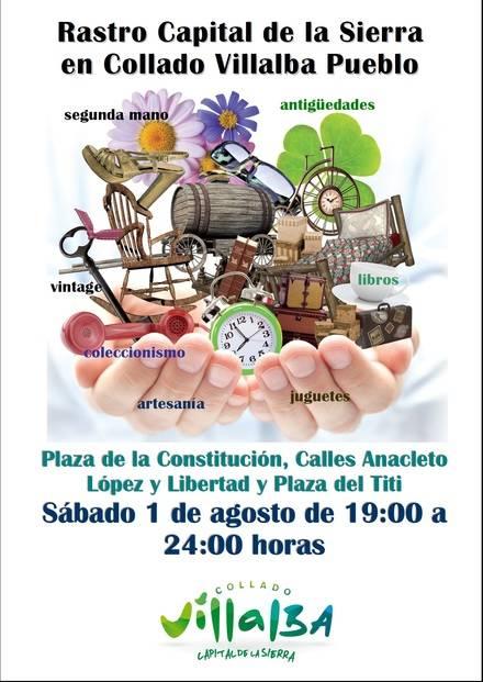 El Rastro de la Sierra, en Collado Villalba, vuelve este sábado en edición vespertina