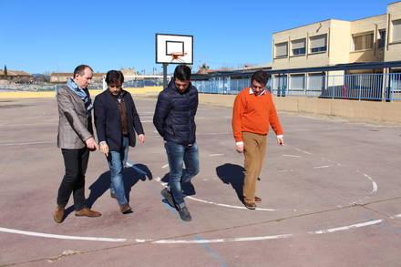 El alcalde de Galapagar visita el colegio San Gregorio