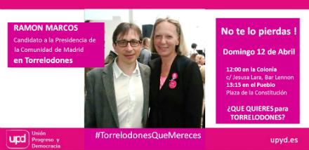 Ramón Marcos, candidato a la comunidad de Madrid por UPyD, visita Torrelodones